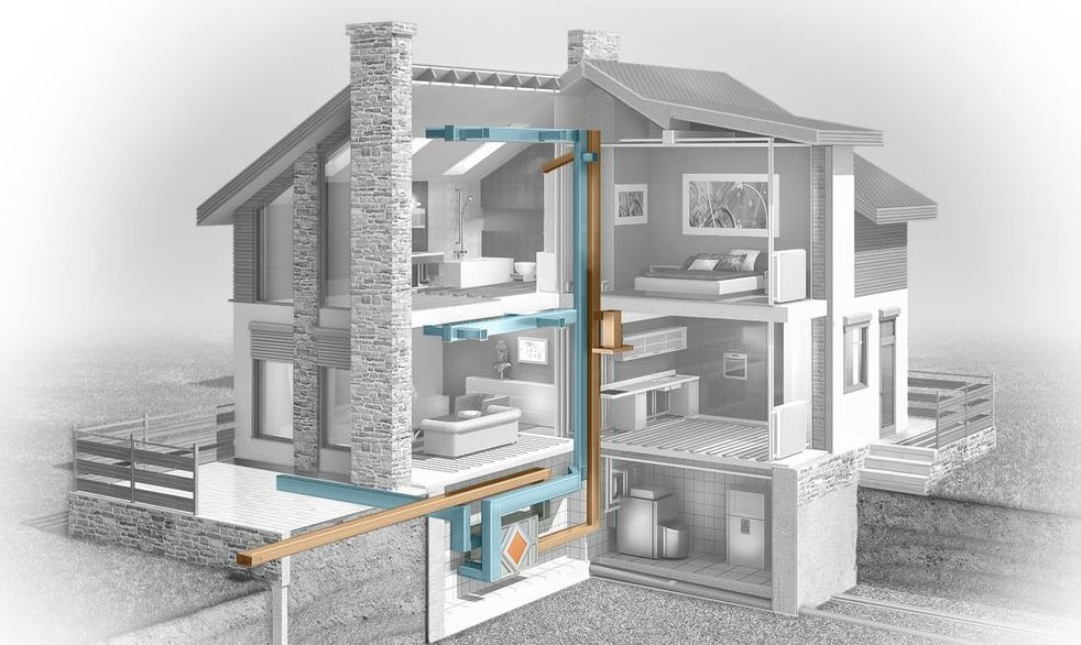 система кондиционирования дома схема