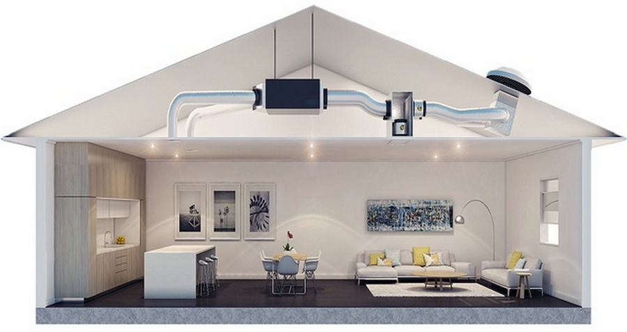 кондиционер канального типа для частного дома