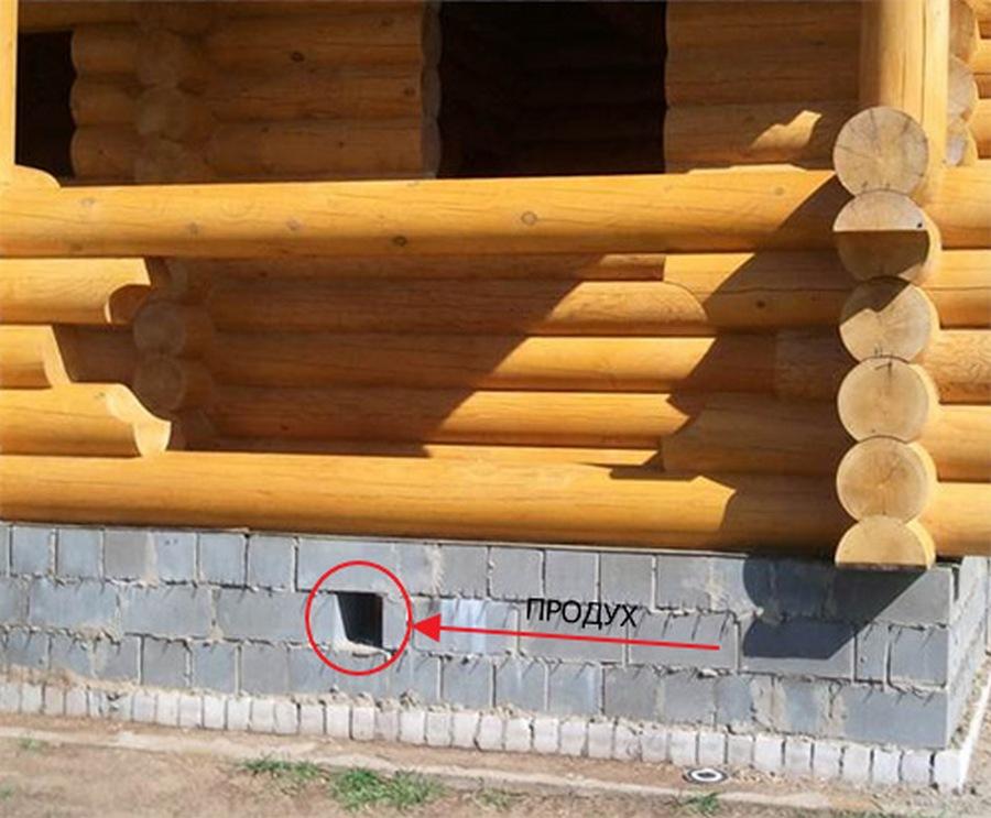 вентиляция подпола через воздуховоды в фундаменте