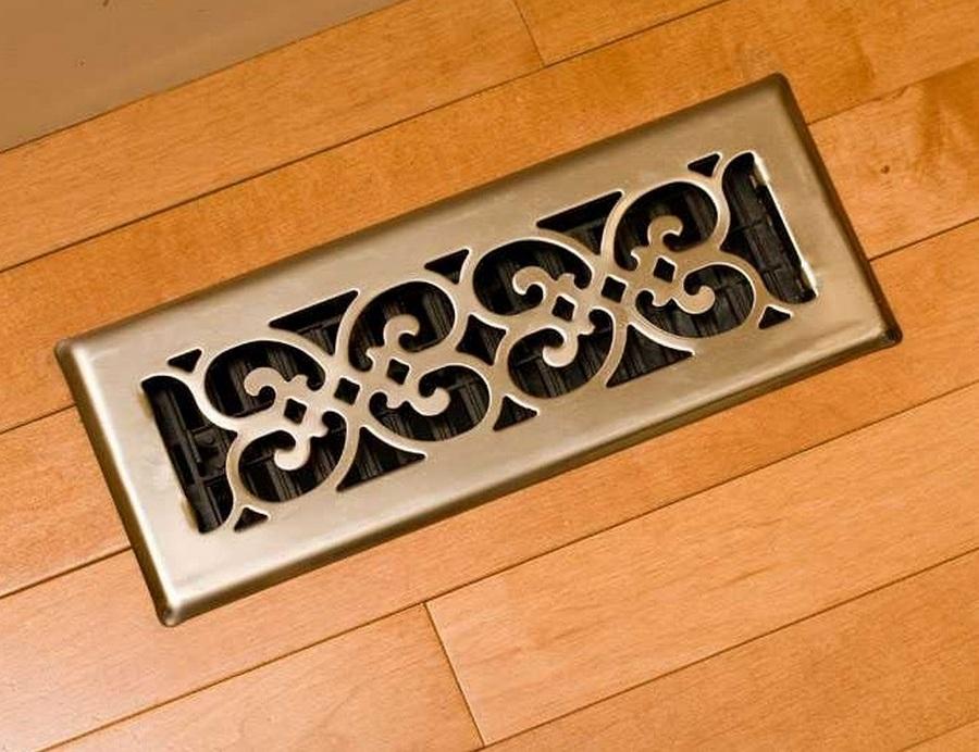 вентиляция деревянного пола через декоративные решетки