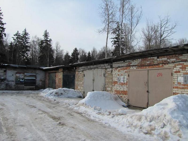 гаражный кооператив зимой