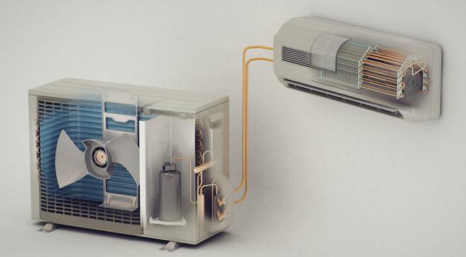 Конструктивное устройство бытового кондиционера
