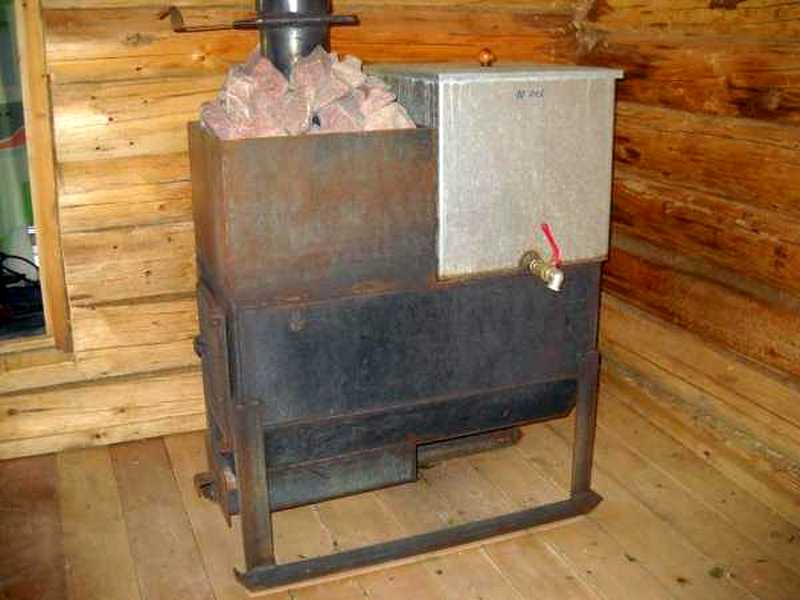 Своими руками металлическая печка для бани
